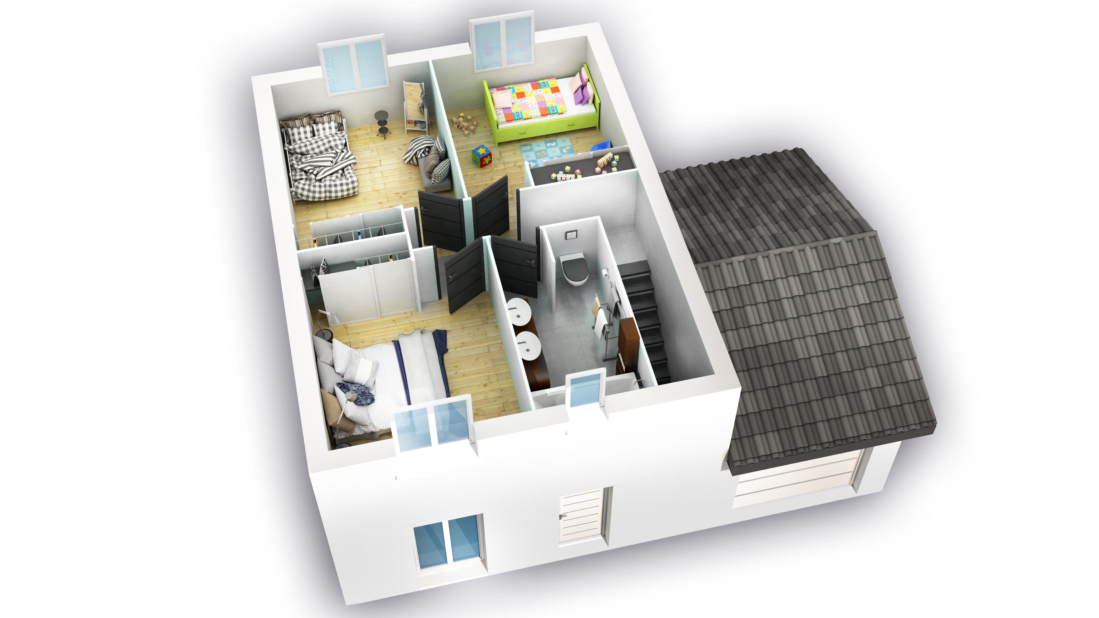 coupe intérieure 1er étage